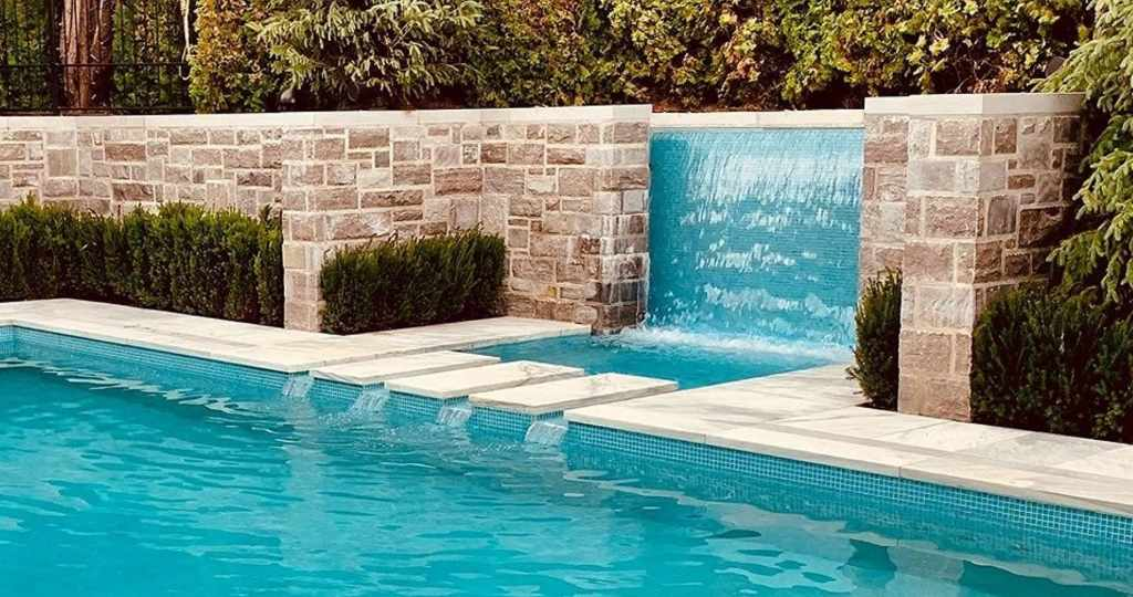 Combo Spa, Swimming Pool & Water Wall